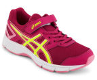 ASICS Pre-School Kids' Galaxy 8 Shoe - Berry/Flash Yellow/Flamingo  2