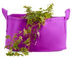 The Urban Farmer Small Round Felt Planter - Purple 1