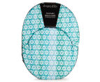 Cooper & Co. Geo Ikat Foldable Beach Chair - Turquoise/White 2