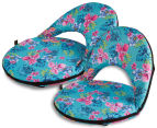 Cooper & Co. Floral Foldable Beach Chair - Blue/Multi 4