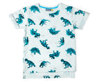 Urban Crusade Junior Boys' Dinosaur Print Tee - Grey 1