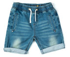 Urban Crusade Junior Boys' Lightweight Denim Shorts - Blue 1