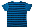 Urban Crusade Junior Boys' Awesome Print Tee - Blue 2