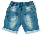 Urban Crusade Junior Boys' Lightweight Denim Shorts - Blue 2