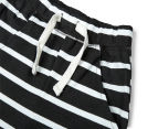 Urban Crusade Junior Boys' Jersey Shorts - Charcoal Stripe 3