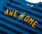 Urban Crusade Junior Boys' Awesome Print Tee - Blue 3