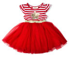 BQT Baby Girls' Christmas Star Tutu Dress - Red 1