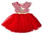 BQT Baby Girls' Christmas Star Tutu Dress - Red 1