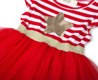 BQT Baby Girls' Christmas Star Tutu Dress - Red 3