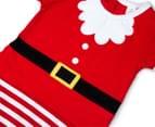 BQT Baby Boys' Santa Romper & Hat 2-Piece Set - Red 5