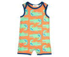 BQT Baby Boys' Crocodile Romper & Hat 2-Piece Set - Multi 2