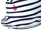 BQT Baby Boys' Sailing Boat Romper & Hat 2-Piece Set - Red/Navy 5