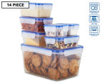 Airtight Food Storage Containers 14-Piece Set - Blue/Transparent 1