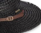Rusty Sea Change Straw Hat - Black 5