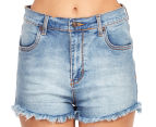 Rusty Women's Hi Road Denim Short - Blue Daze 3