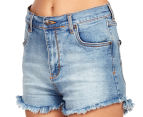Rusty Women's Hi Road Denim Short - Blue Daze 4