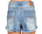 Rusty Women's Hi Road Denim Short - Blue Daze 5
