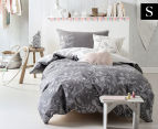Marie Claire Mini By Linen House Harrietta Single Bed Quilt Cover Set - Grey 1