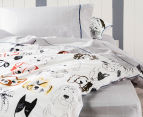 Hiccups By Linen House Cubic Single Bed Sheet Set - Grey 2