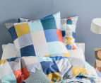 Hiccups By Linen House Domino Euro Pillowcase - Blue  2