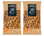 2 x J.C's Almonds Natural 500g 1