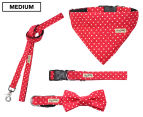 Wag Worthy Dog Accessory Value Pack for Medium Dogs - Red 1