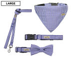 Wag Worthy Dog Accessory Value Pack for Large Dogs - Blue 1