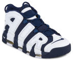 Nike Men's Air More Uptempo Shoe - White/Mid Navy/Metallic Gold/University Red 2
