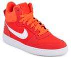 Nike Women's Court Borough Mid Top Shoe - Bright Crimson/White 2