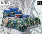 KAS Rousseau Queen Bed Quilt Cover Set - Multi 1