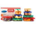Pyrex 18-Piece Simply Store Glass Container Set w/ Multi Coloured Lids - Multi  1