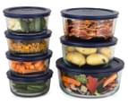 Pyrex 14-Piece Simply Store Glass Container Set w/ Blue Lids - Blue 2