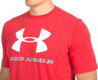 Under Armour Men's Sportstyle Logo Tee - Red/White 6