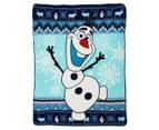 Disney Frozen 127x152cm Polar Fleece Throw - Blue 1