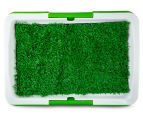 Paws N Claws Toilet Training Tray w/ Grass - White/Green 5