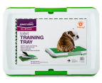Paws N Claws Toilet Training Tray w/ Grass - White/Green 6