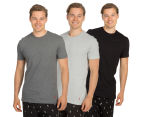 Polo Ralph Lauren Men's Cotton Crew Tees 3-Pack - Black/Grey/Gunmetal Grey 1