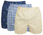 Polo Ralph Lauren Men's Classic Fit Woven Boxers - Navy/Summer Stripe 1