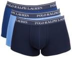 Polo Ralph Lauren Men's Classic Fit Cotton Trunks 3-Pack - Blue 1