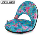 Cooper & Co. Floral Foldable Beach Chair - Blue/Multi 1