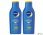 2 x Nivea Sun Protect & Moisture Sunscreen SPF 50+ 400mL 1