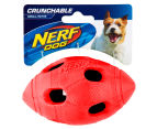 NERF Dog Small Crunchable Football Toy - Red 1
