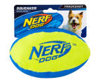 NERF Dog Medium Trackshot Football Squeaker Toy - Blue/Green 1