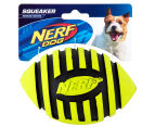 NERF Dog Medium Squeaker Football Toy - Green 1