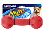 NERF Dog Medium Squeaker Barbell Toy - Red 1
