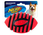 NERF Dog Medium Squeaker Football Toy - Red 1