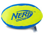 NERF Dog Medium Trackshot Football Squeaker Toy - Blue/Green 2