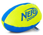 NERF Dog Medium Trackshot Football Squeaker Toy - Blue/Green 3