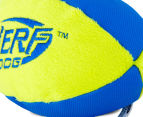 NERF Dog Medium Trackshot Football Squeaker Toy - Blue/Green 4
