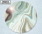 Green Weaving 59cm Acrylic Glass Wall Art 1